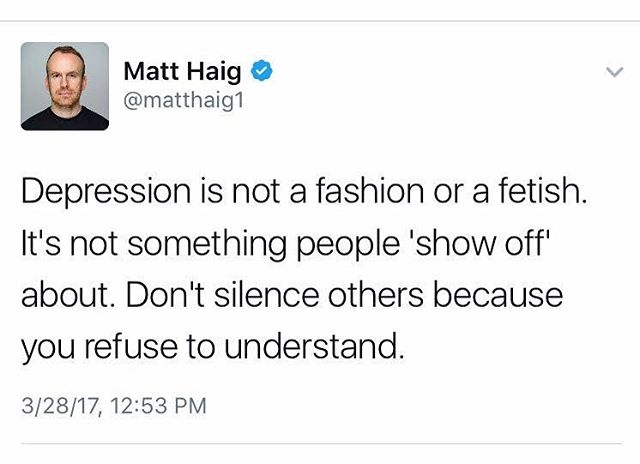 Wise words about #depression from @MattzHaig.