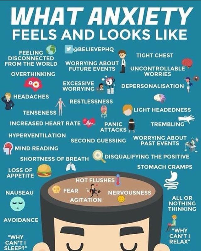 Do people in your life not understand what living with #anxiety feels and looks like? Show them this. ・・・ 🤘🏿#YouMatter 🤘🏾#YoureNeeded 🤘🏻#YouRock