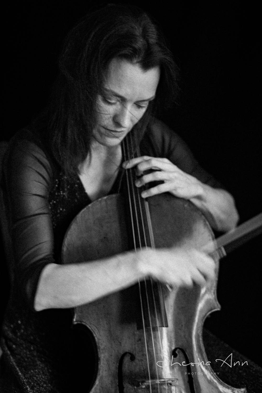 Pretty woman playing Cello