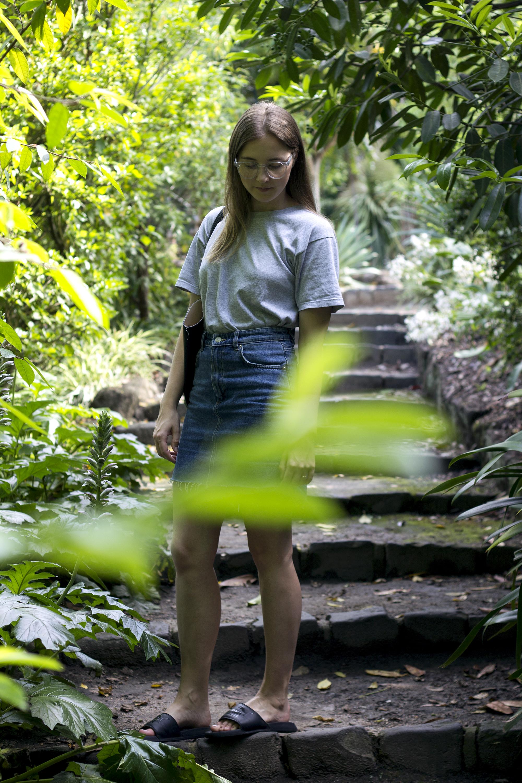 Step Hem Denim Skirt 4.png