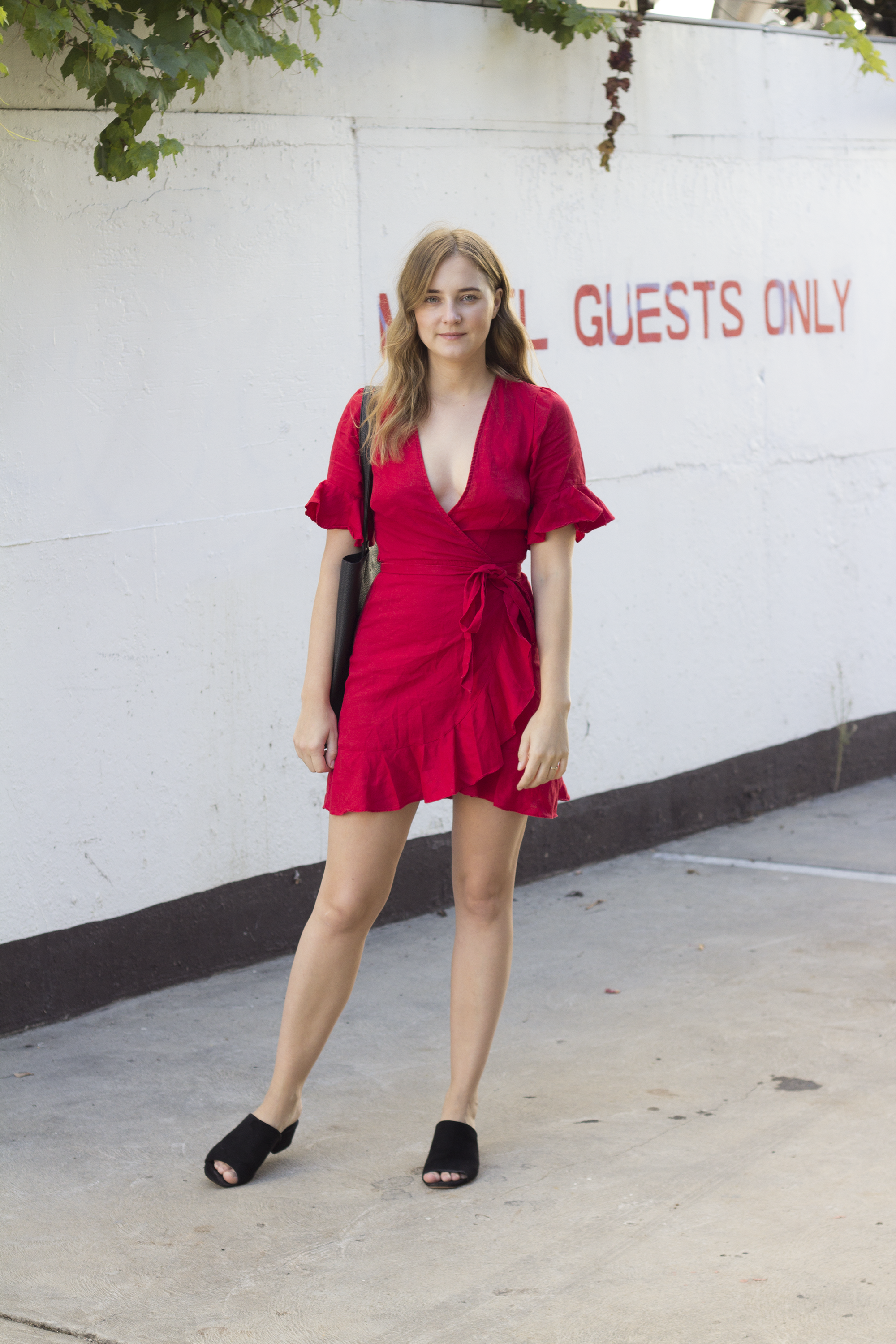 Glassons Red Wrap Dress2.png