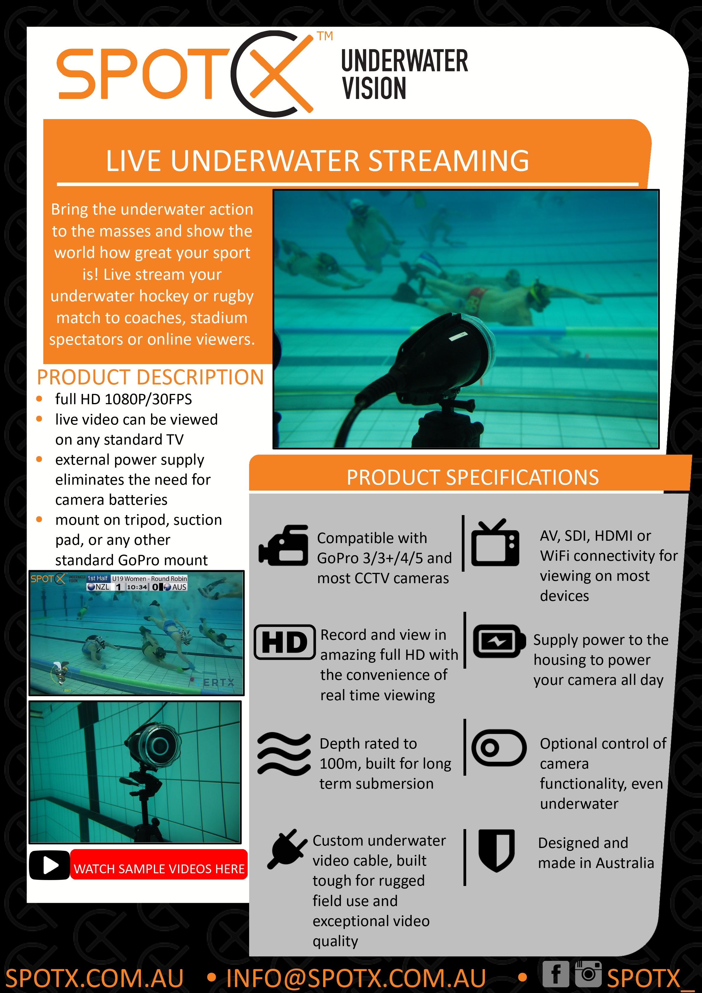 Squid Underwater Sports Datasheet