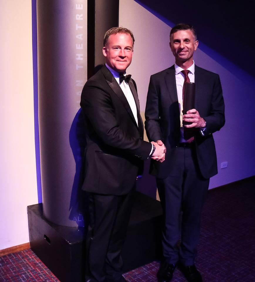 Mark accepting Theatre Award Best Ensemble 2017.jpg