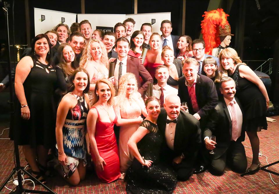 Some of the Cast of  WICKED  - Winner Best Ensemble Community Musical Theatre, Tas Theatre Awards 2016
