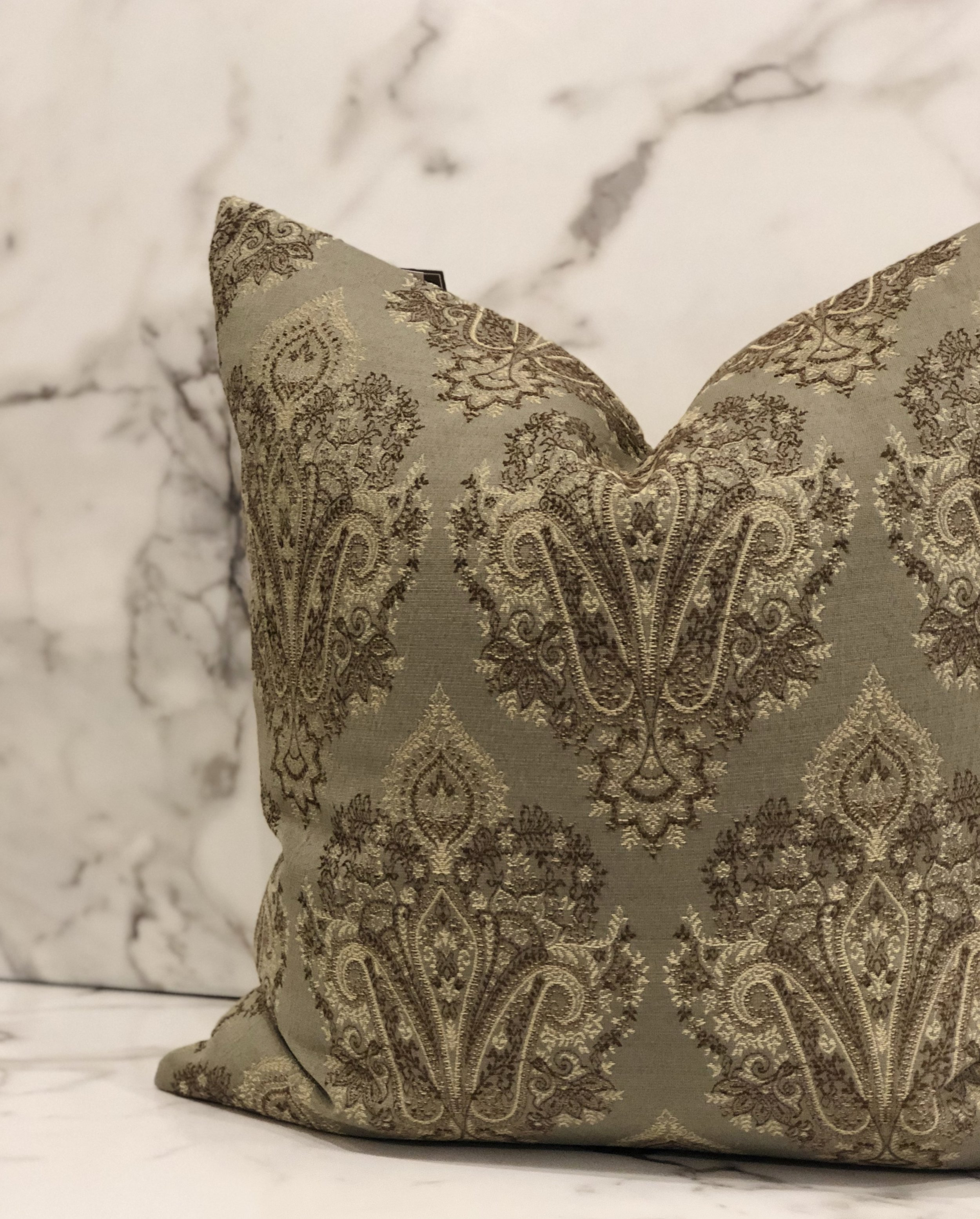 Embroidery - Embroidery is an art. It is completed by using a needle to thread yarn or string through another fabric. The results are breathtaking. Through embroidery you can get precise and detailed patterns and designs.Pillow - $74.95