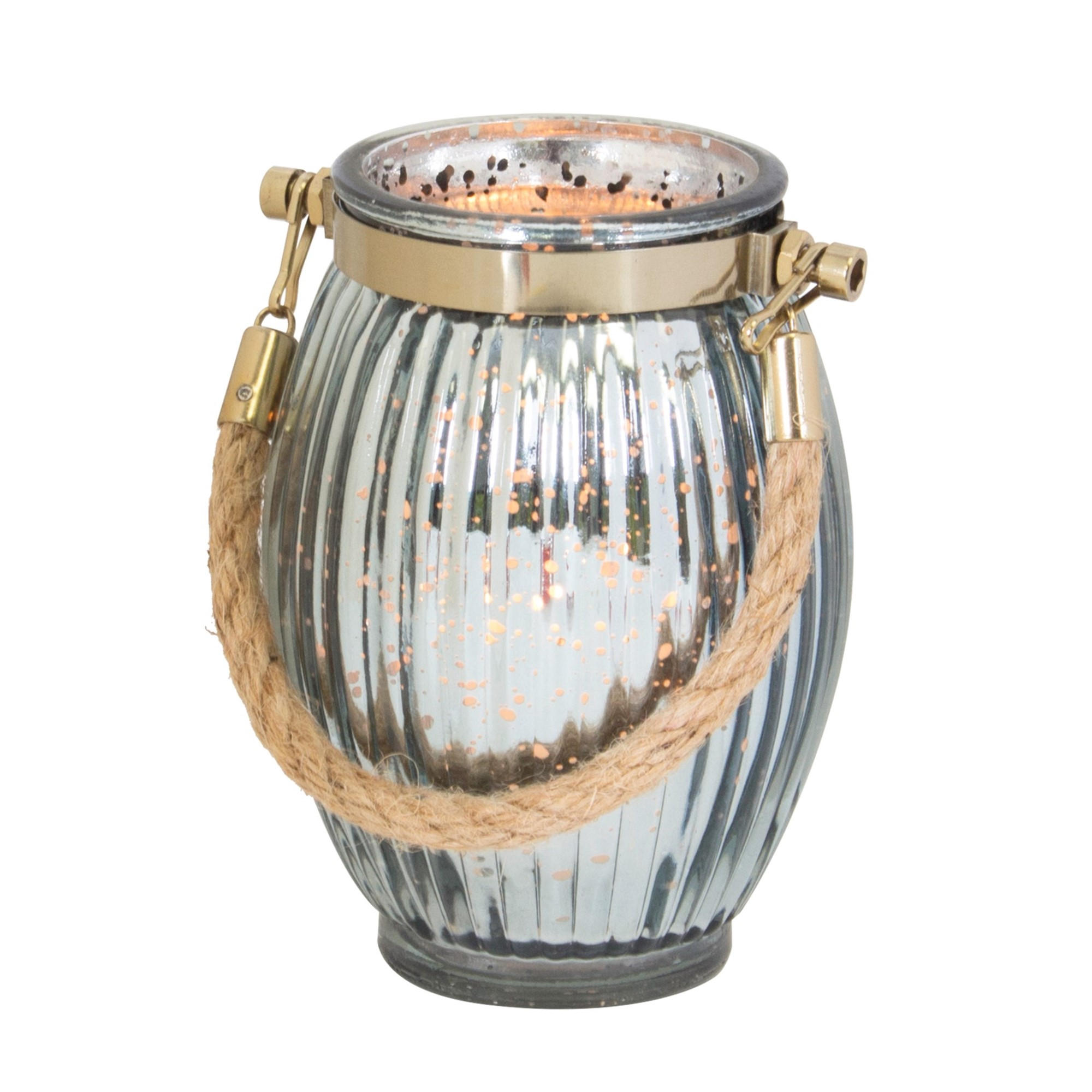 Metallic Lantern with Jute, Amanda's House Of Elegance  ($22.95)