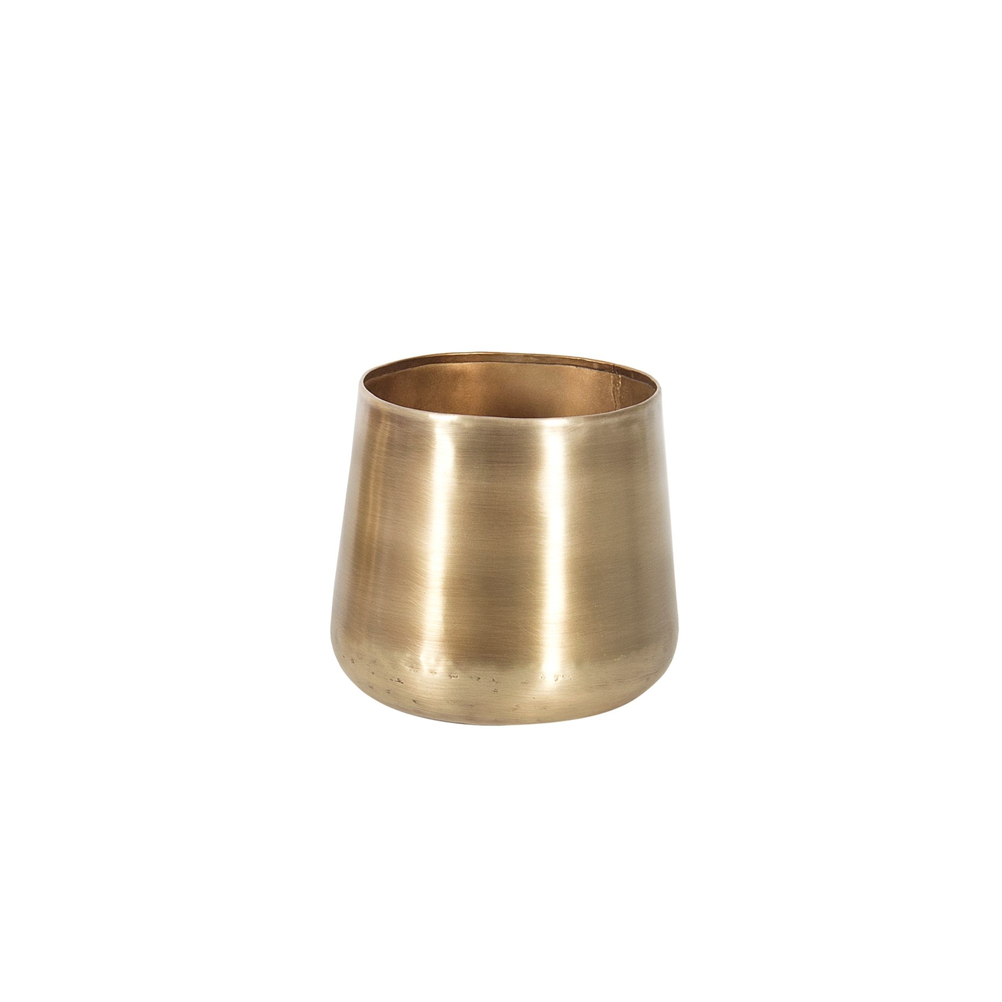 "5"" Brass Plated Metal Planter, Amanda's House Of Elegance  ($20.95)"