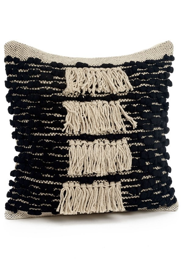 17x17 Black/Natural Pillow, Amanda's House Of Elegance  (Special Order Only - Minimum Qty 2)   ($46.95 each)