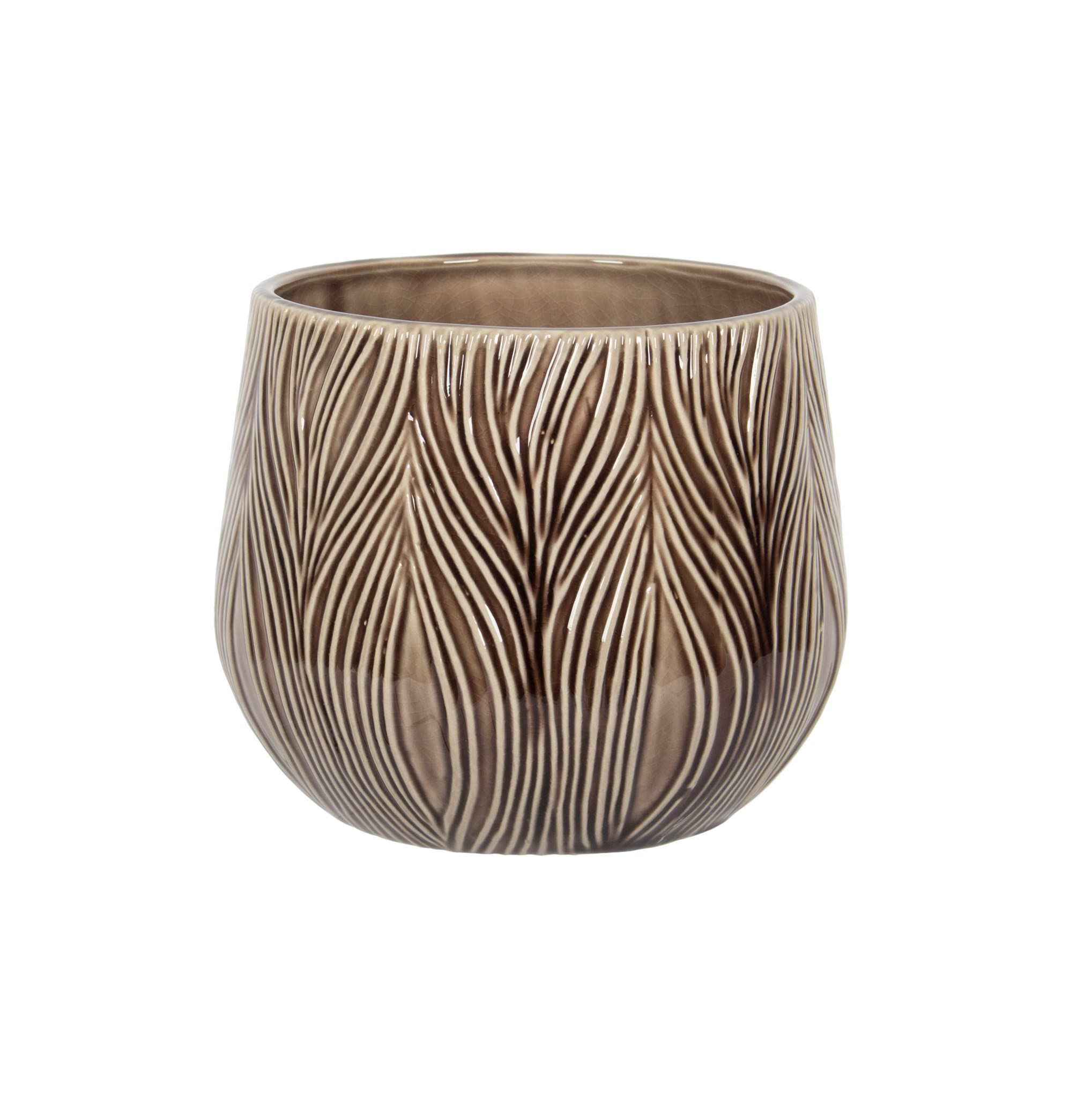 "5"" Ceramic Vase in Brown, Amanda's House Of Elegance  ($16.95)"