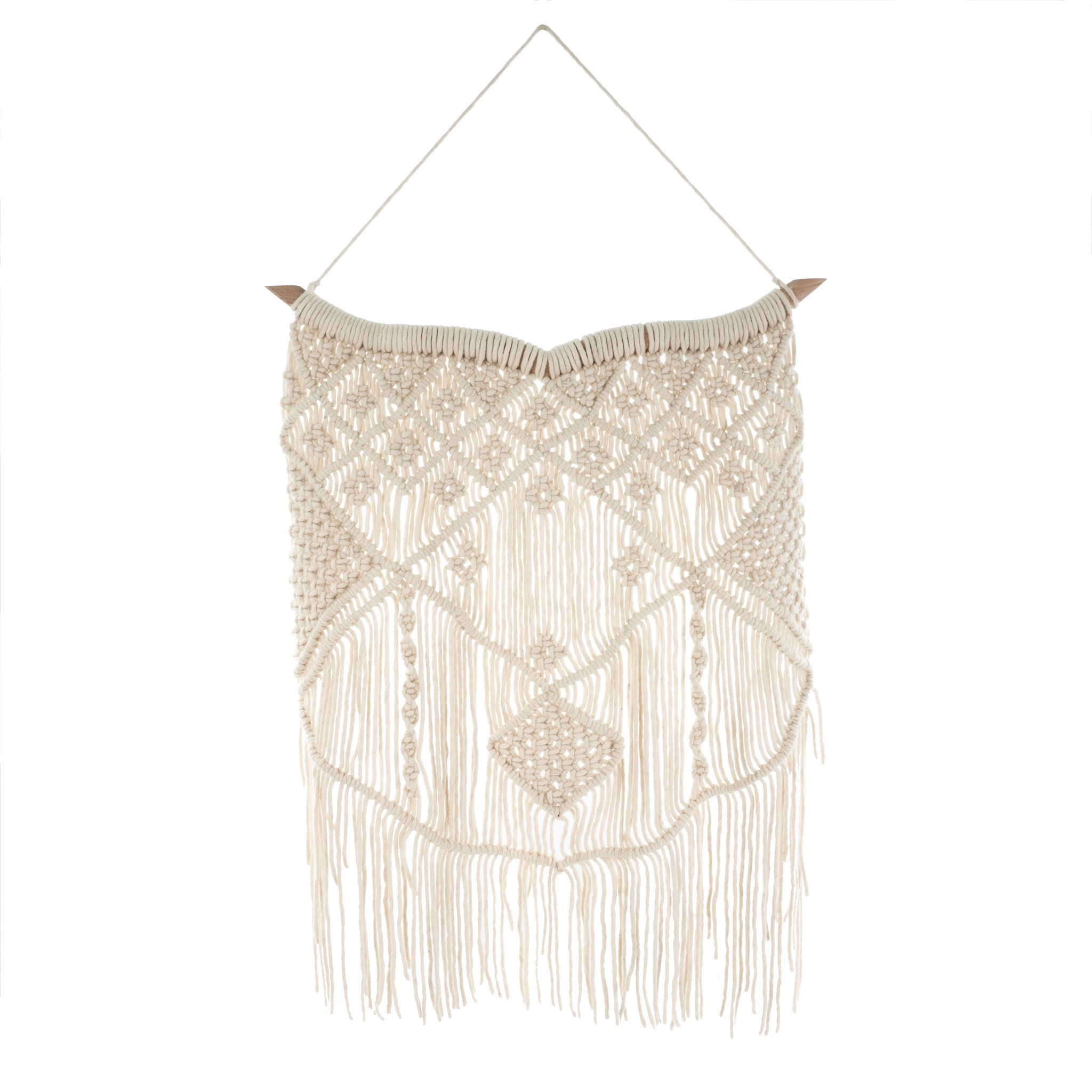 Wool Macrame Wall Hanging in Natural, Amanda's House Of Elegance  (Special Order Only)   ($86.95)