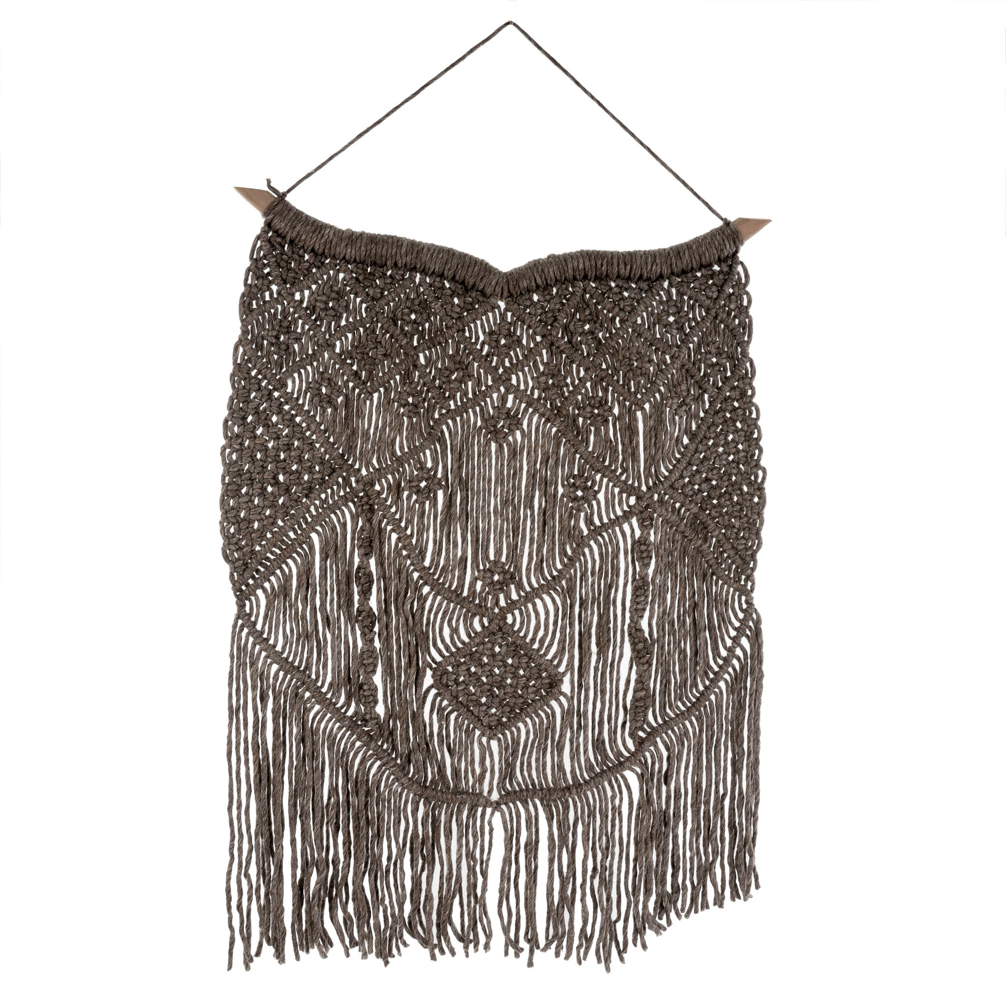 Wool Macrame Wall Hanging in Grey, Amanda's House Of Elegance  (Special Order Only)   ($86.95)
