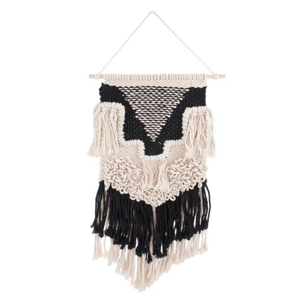 Macrame Wall Decor in Black and Beige, Amanda's House Of Elegance  ($45.95)