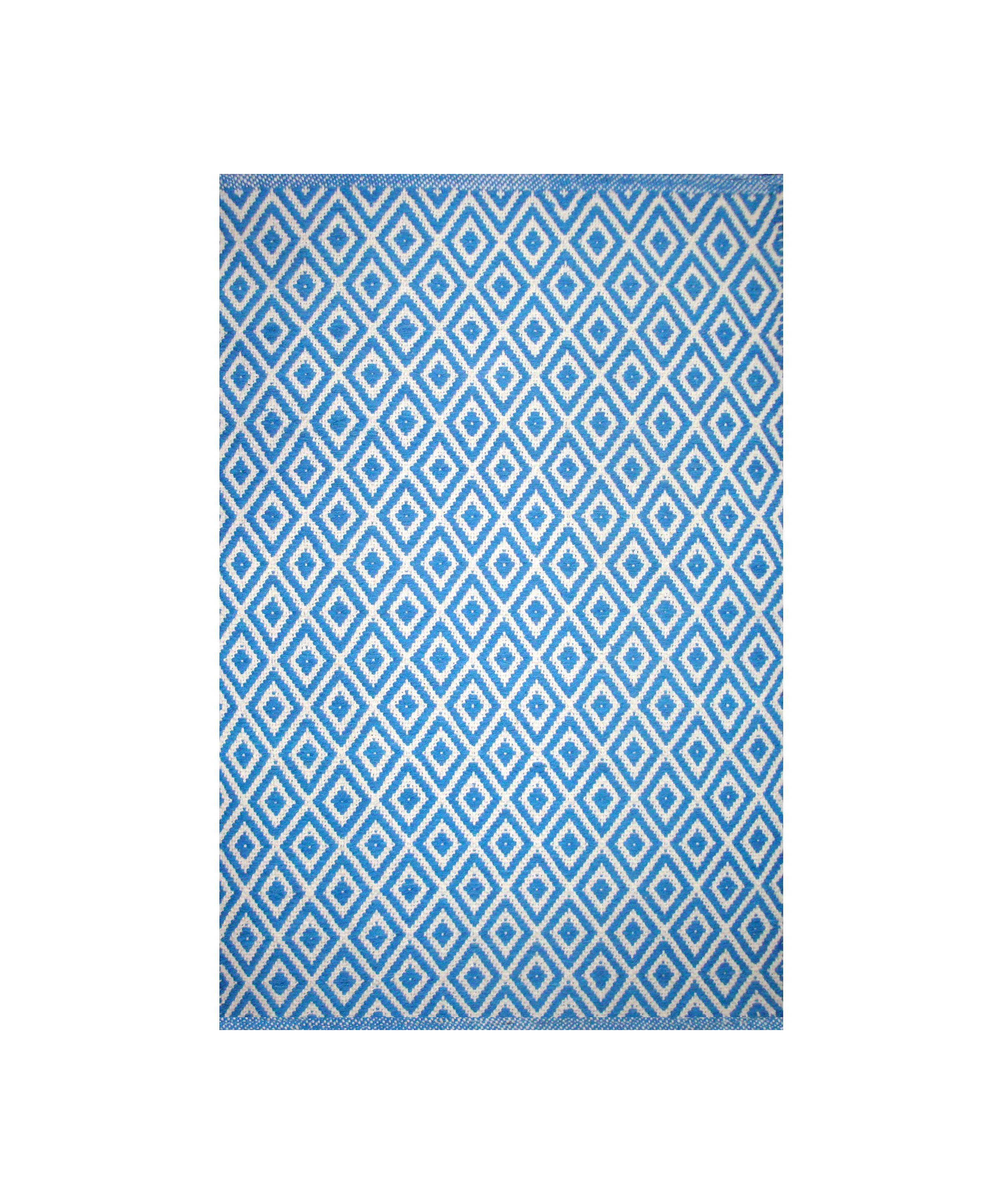 Dhurrie Lozenge Blue (Available Sizes: 2x3, 3x5, 4x6, 5x8, 7x9), Amanda's House Of Elegance  (Special Order Only)   ($27.95 – $286.95)