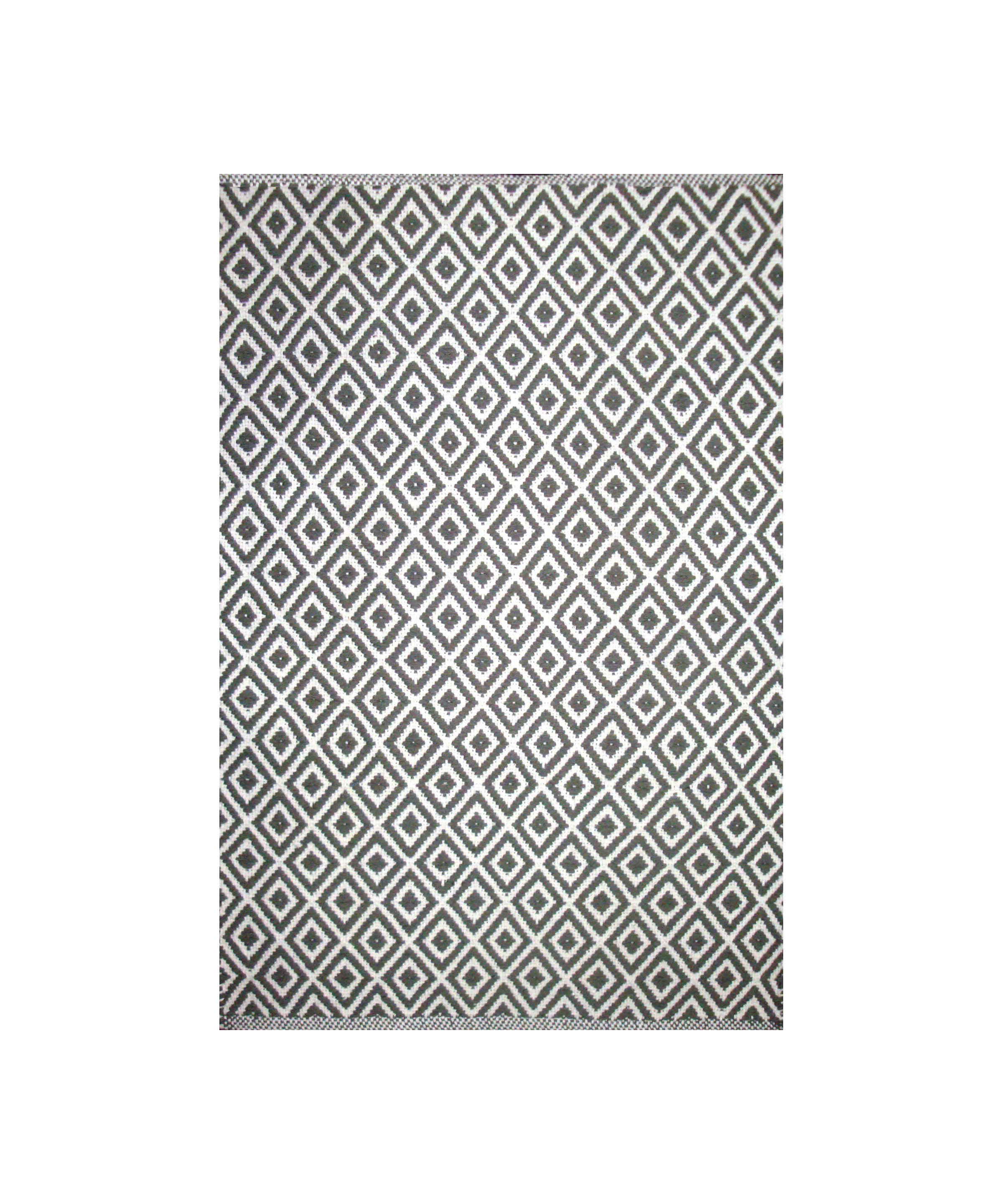 Dhurrie Lozenge Grey (Available Sizes: 4x6, 5x8, 7x9), Amanda's House Of Elegance  ($110.95 – $286.95)