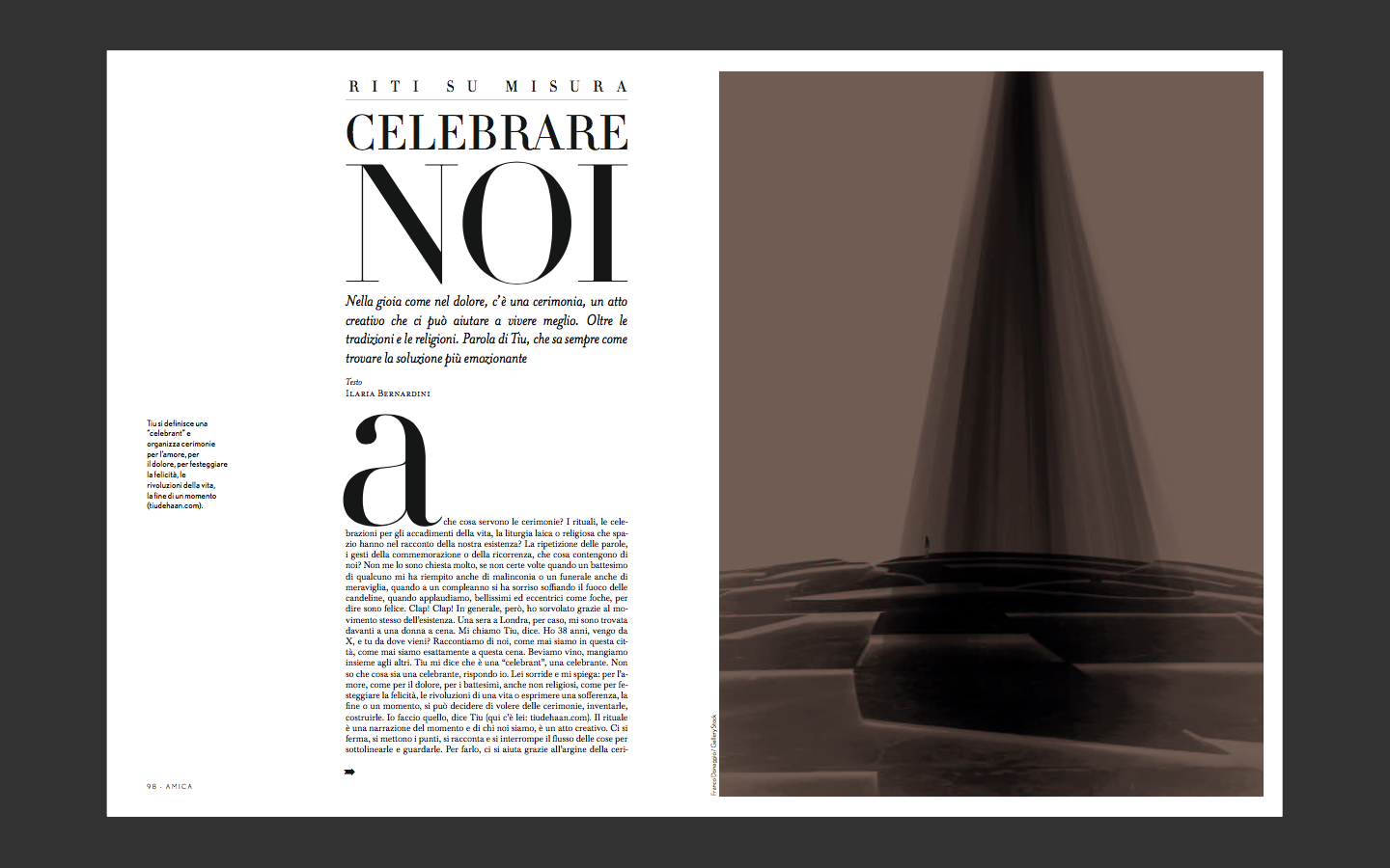 interview in amica magazine - click here to read an english translation