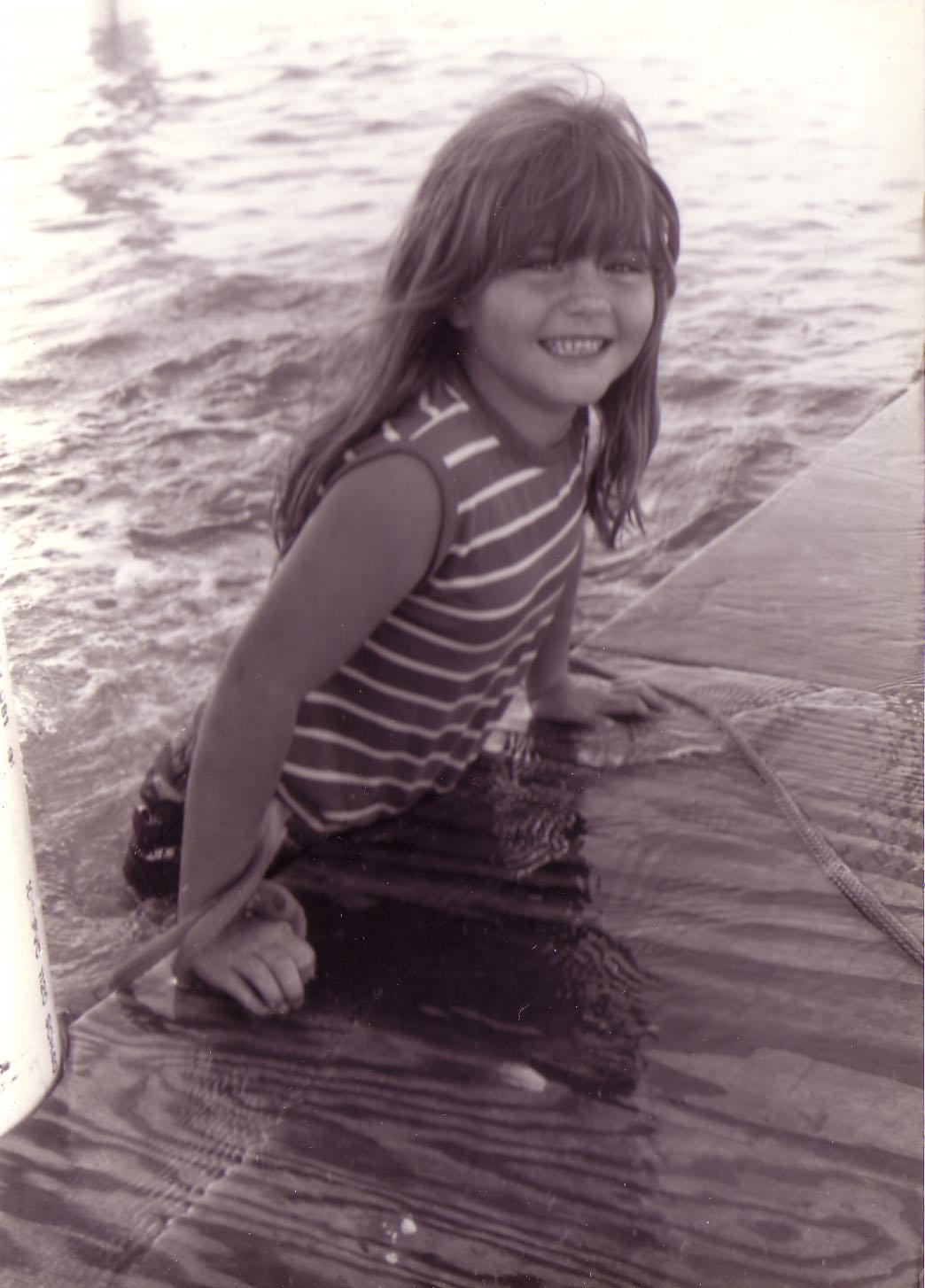 The author at her family's stilt house, circa 1980.