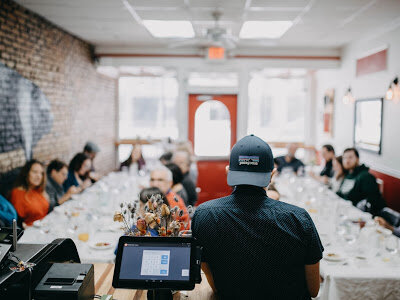 Founder of FARE: eat differently, Kyle Holsinger-Johnson, at a FARE event in 2018.