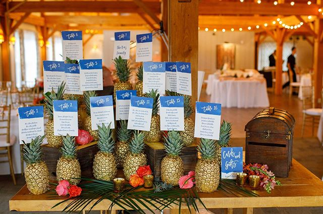 a unique and fun 🍍🍍🍍searing chart display for the most fun and colorful bride  #allthecolor 🌺🌴 📸 @brookeellenphotography