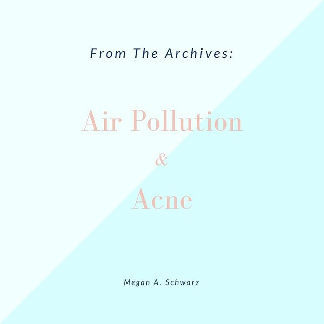 "FROM THE ARCHIVES | Air Pollution & Acne.  One of the first questions I often ask clients is ""what do you believe is behind your skin issues?"" Clients have typically been mulling over this question for some time on their own so they are quick to rattle off a number of reasons, namely hormones, stress, or the wrong topical products.  But new research is suggesting that there is another factor to contend with - increased air pollution. Head to the Journal for more! #linkinbio"