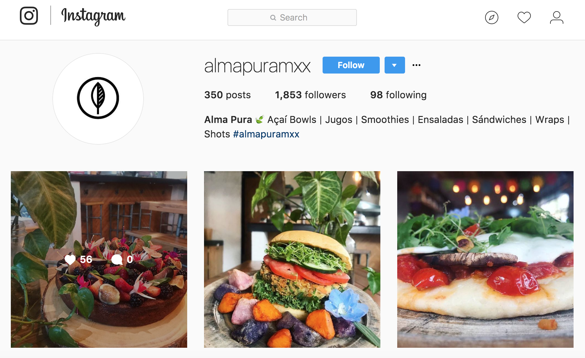 Alma Pura - Doesn't this look super delicious?! UGH - i'm hungry now, lol. [click the photo to go straight to their IG]