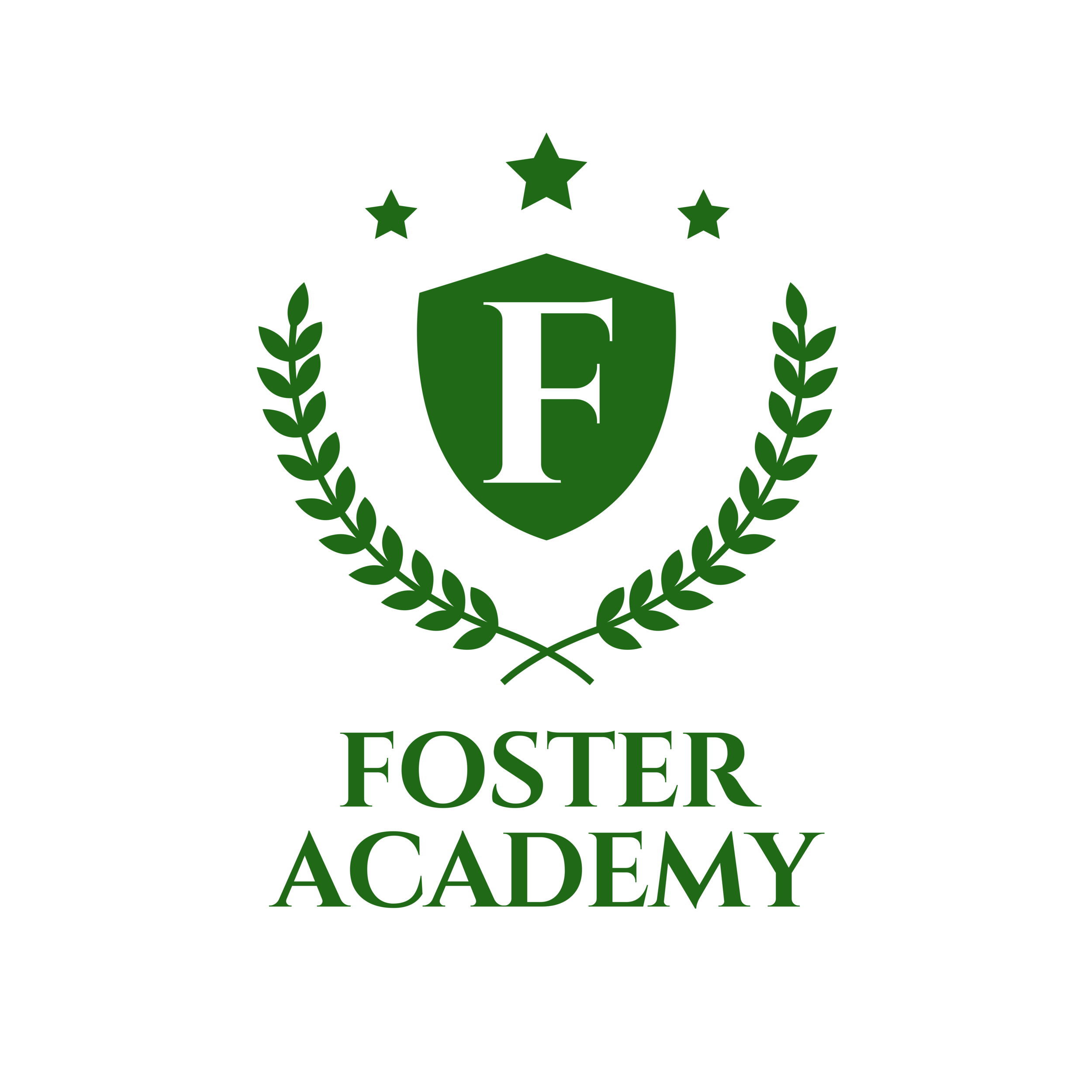Copy of For Sign Foster Academy logo Green on White.png