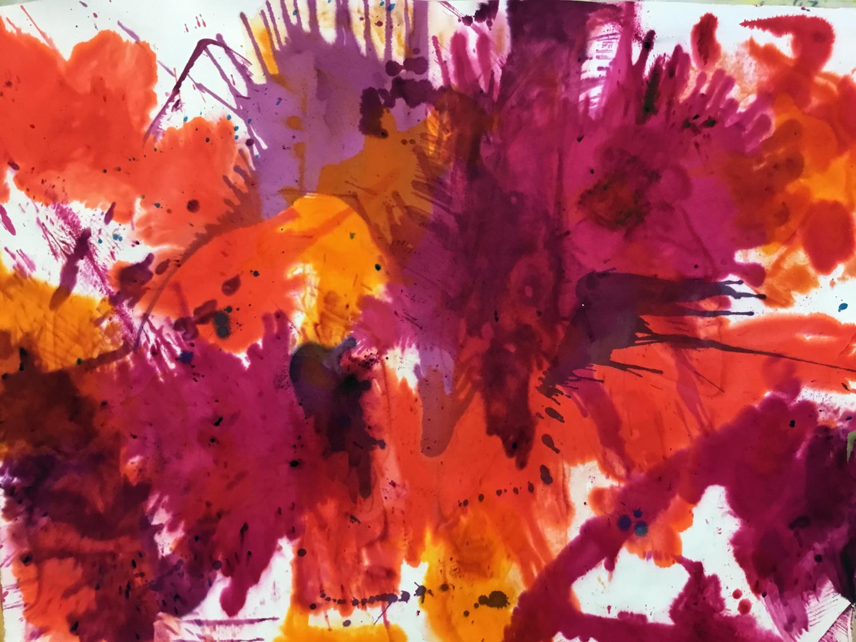 Joy  - Dye on Paper