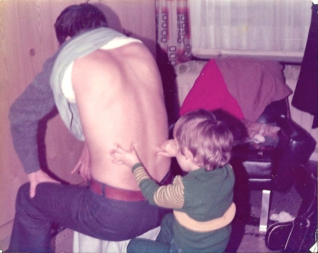 Stephan age 5 giving his first massage