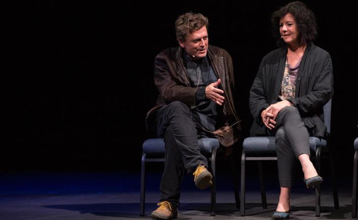 Director Brian Mertes and playwright Kim Merrill (photo credit: David Andrako)