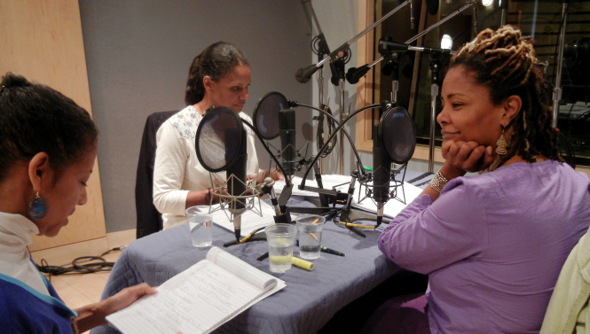 Audra McDonald and Tonya Pinkins, directed by Seret Scott, recording Lynn Nottage's Poof!
