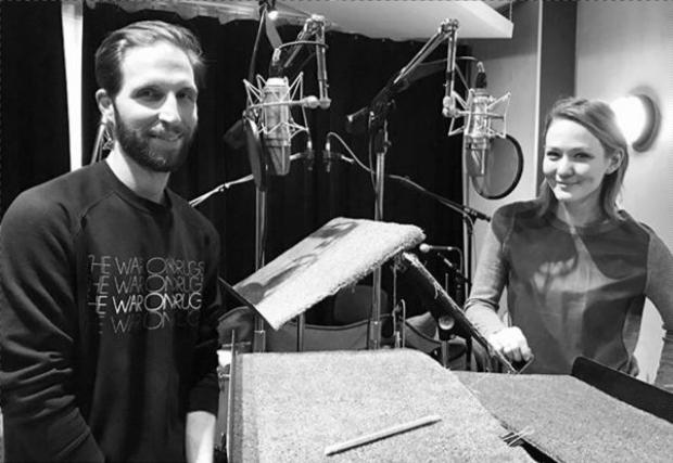 Blake DeLong and Louisa Krause record Winter Games, by Rachel Bonds