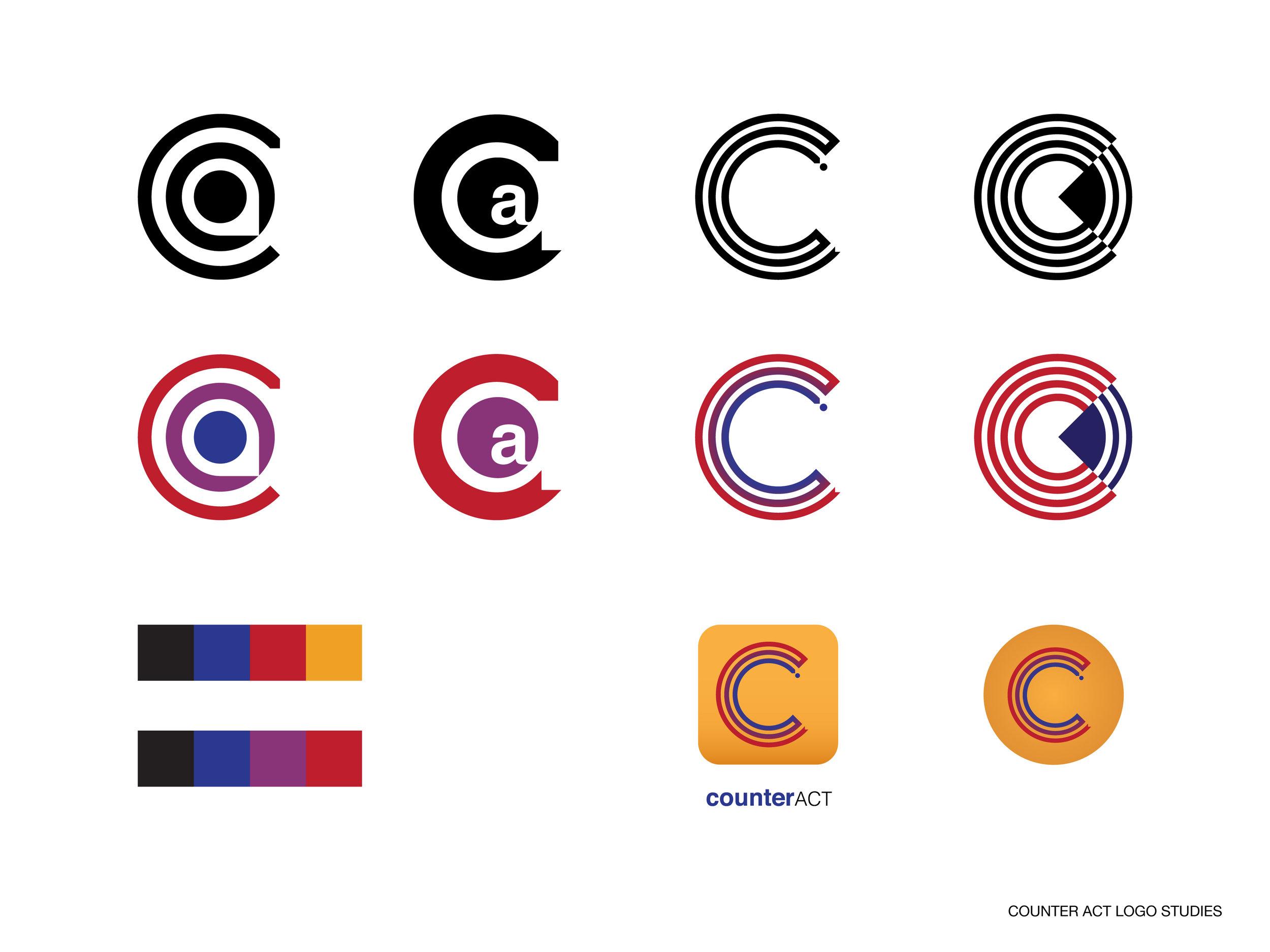 Counter Act Logo Studies