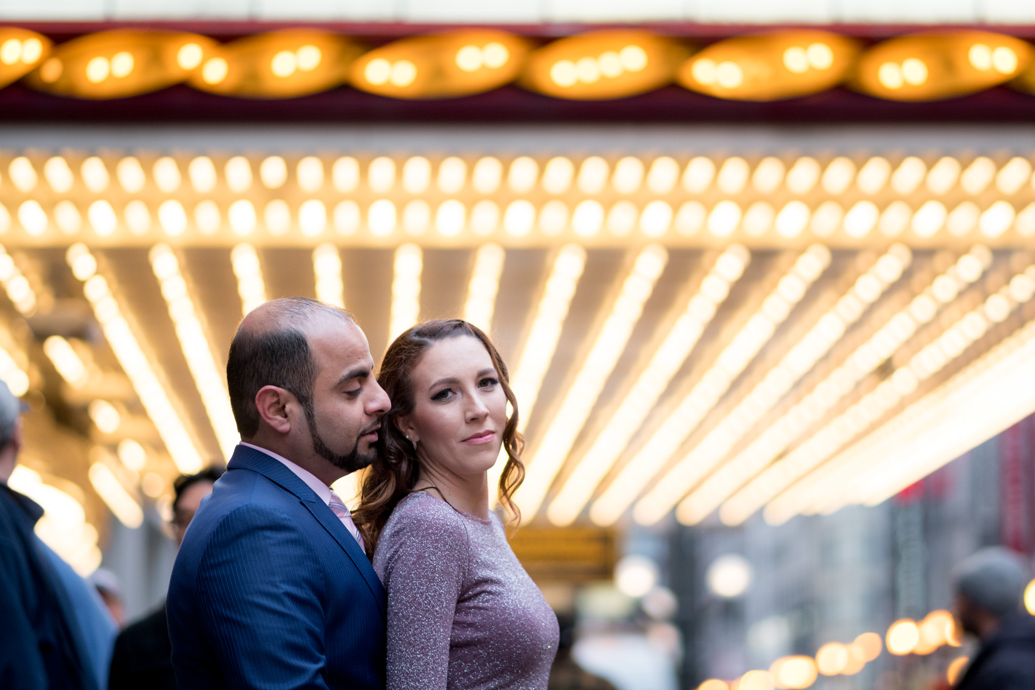 Chicago Theater Marquee Engagement