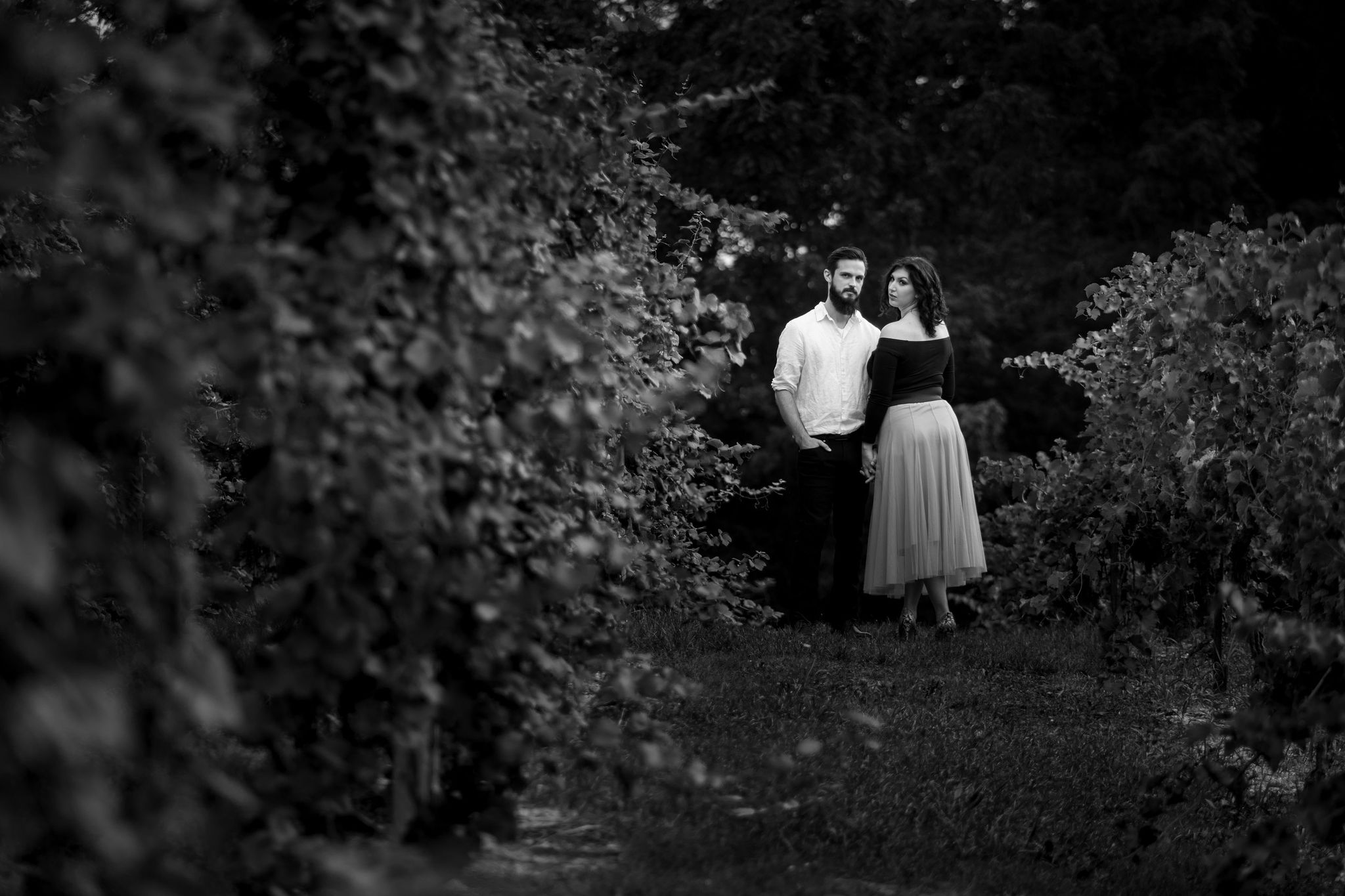 Tyler + Chael's Tabor Hill Winery Engagement Session_6.jpg