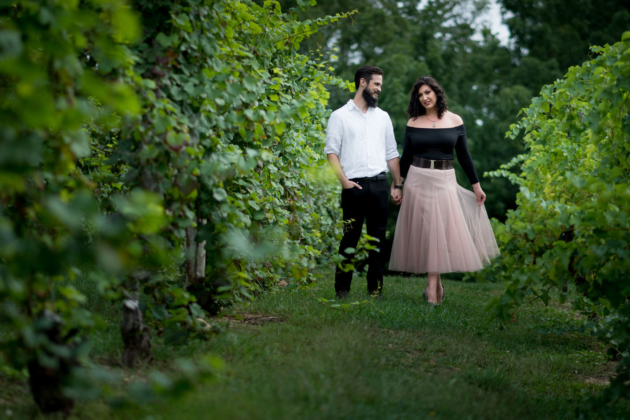 Tyler + Chael's Tabor Hill Winery Engagement Session_11.jpg