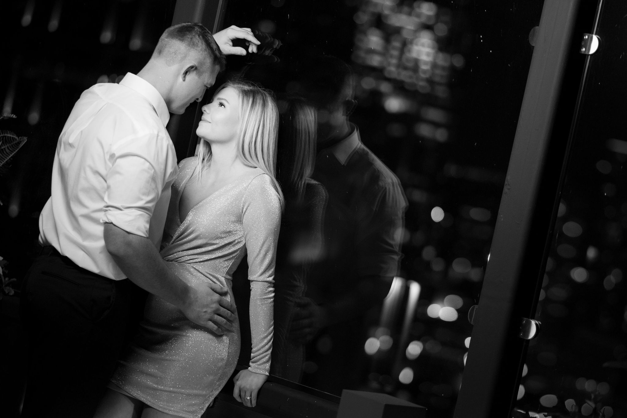 Colton & Taylor's Downtown Chicago Riverwalk Engagement 20