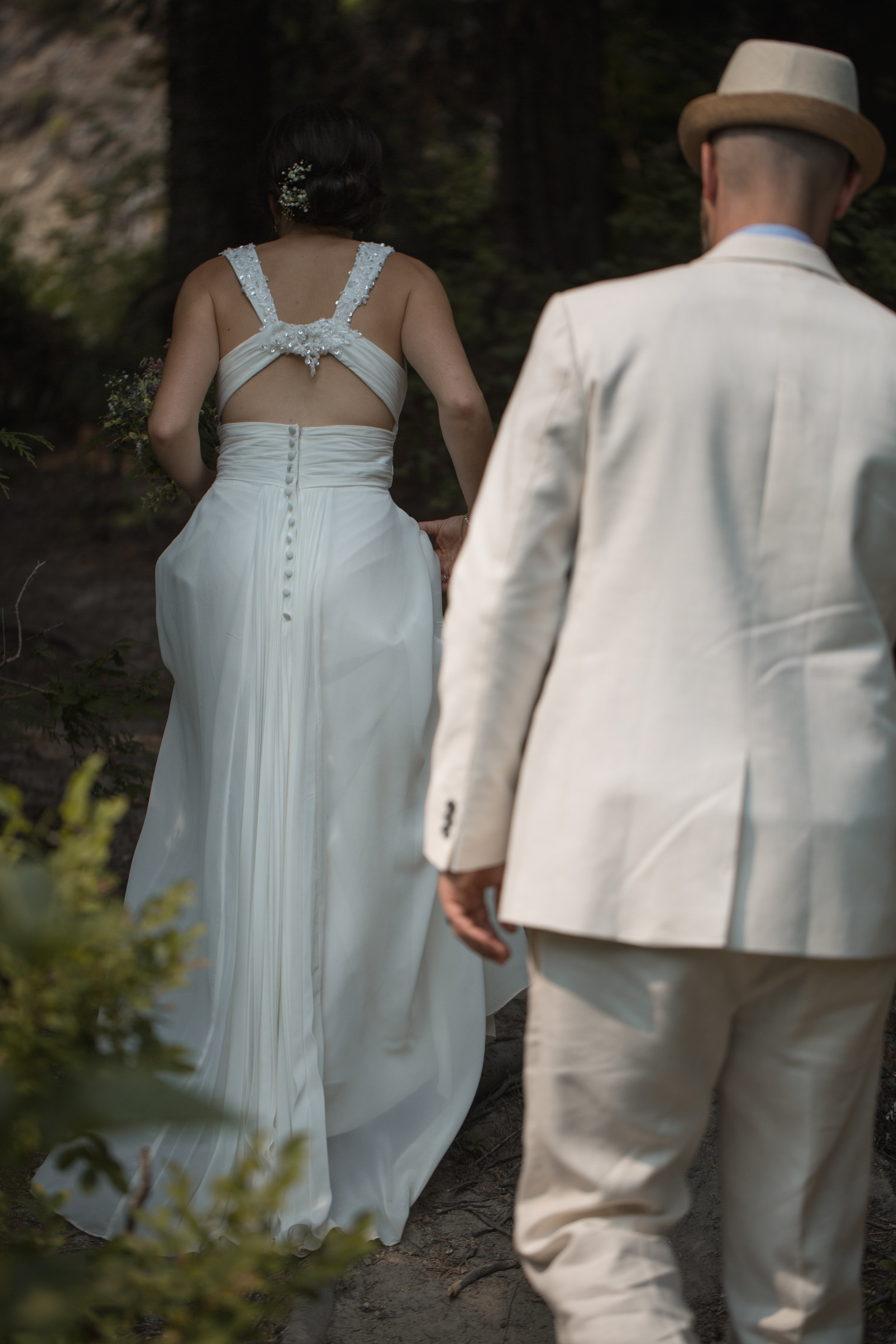 Z & J are nature lovers and adore the forest.So at their gorgeous riverside location we found a perfect little nook within the trees for some photos and alone time for the pair post-ceremony.