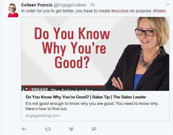 Twitter Post - Colleen Francis
