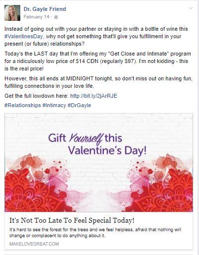 Facebook Campaign - Dr. Gayle Friend
