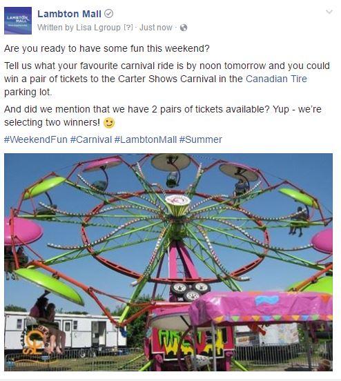 Facebook Contest - Lambton Mall