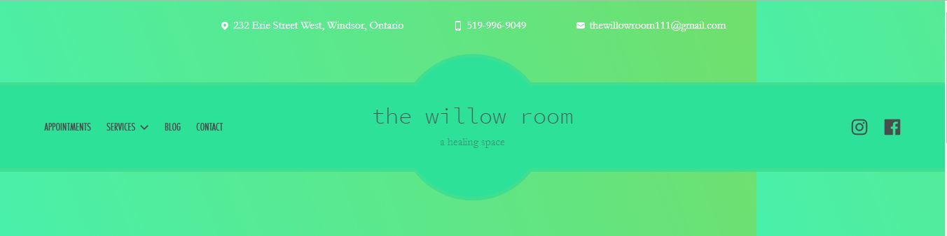 Website - The Willow Room