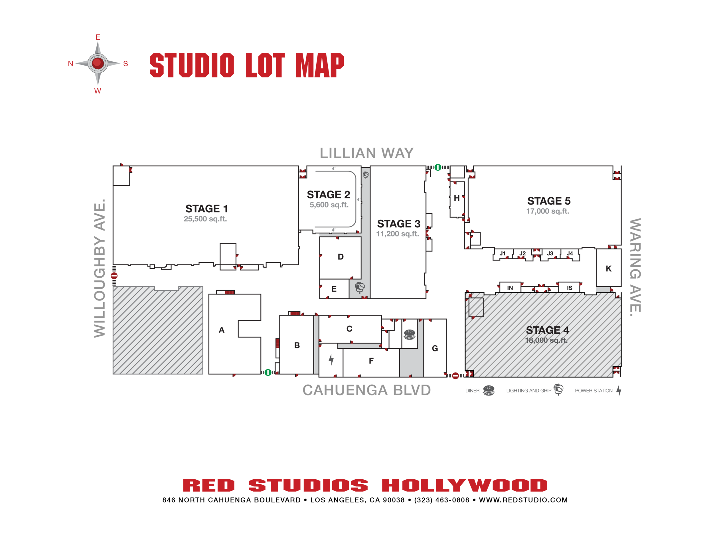 STUDIO LOT MAP - Printable: PDF