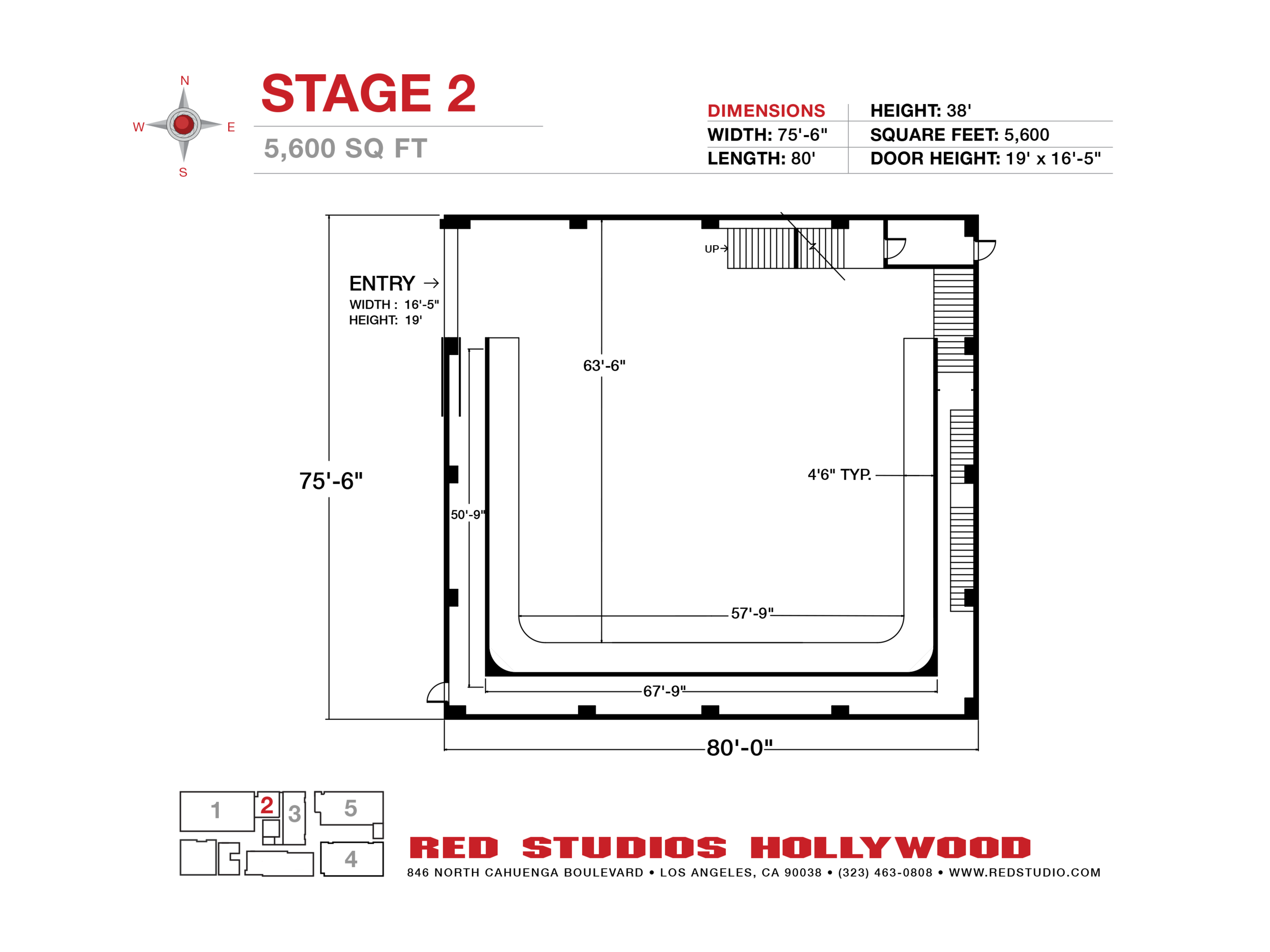 STAGE 2 - Height: 38'Width: 75'-6