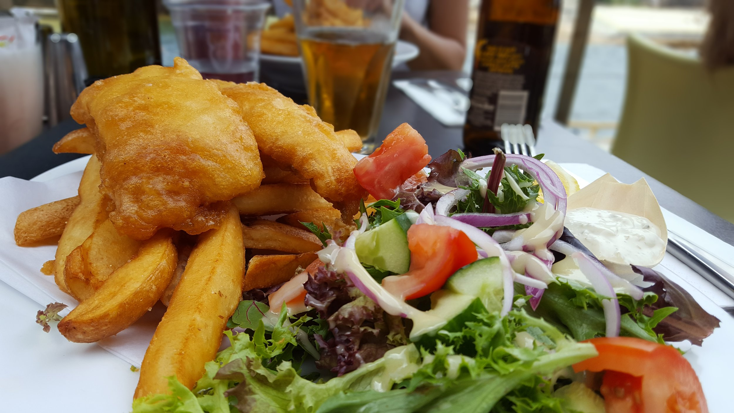 A walk on the beach requires fish and chips.  Seasalt Cafe