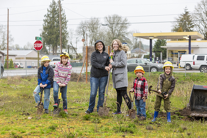 Breaking ground for the new library - 2017