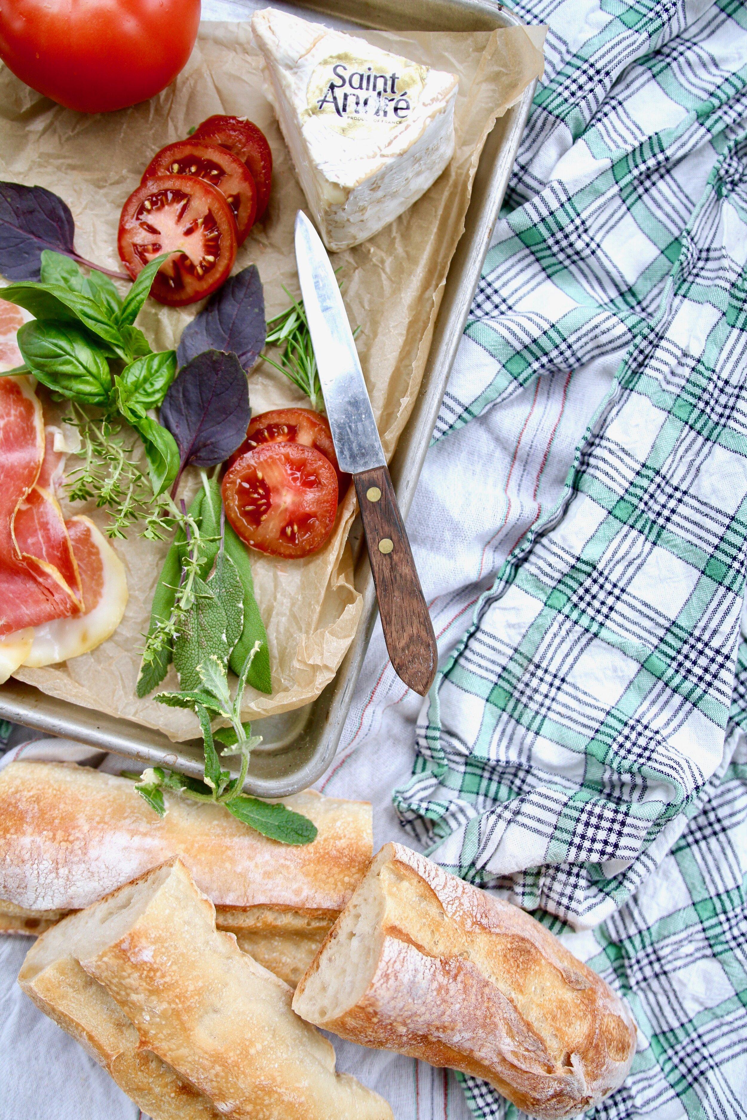 Tomato Brie Sandwich