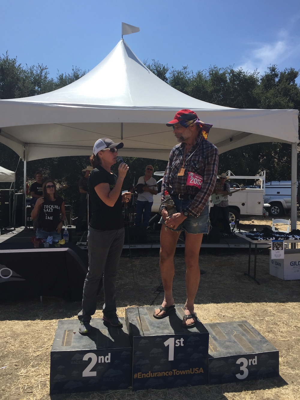 The inspiring George Hall, 66, from Santa Cruz, CA was the oldest SLO Ultra + MTB Double finisher.
