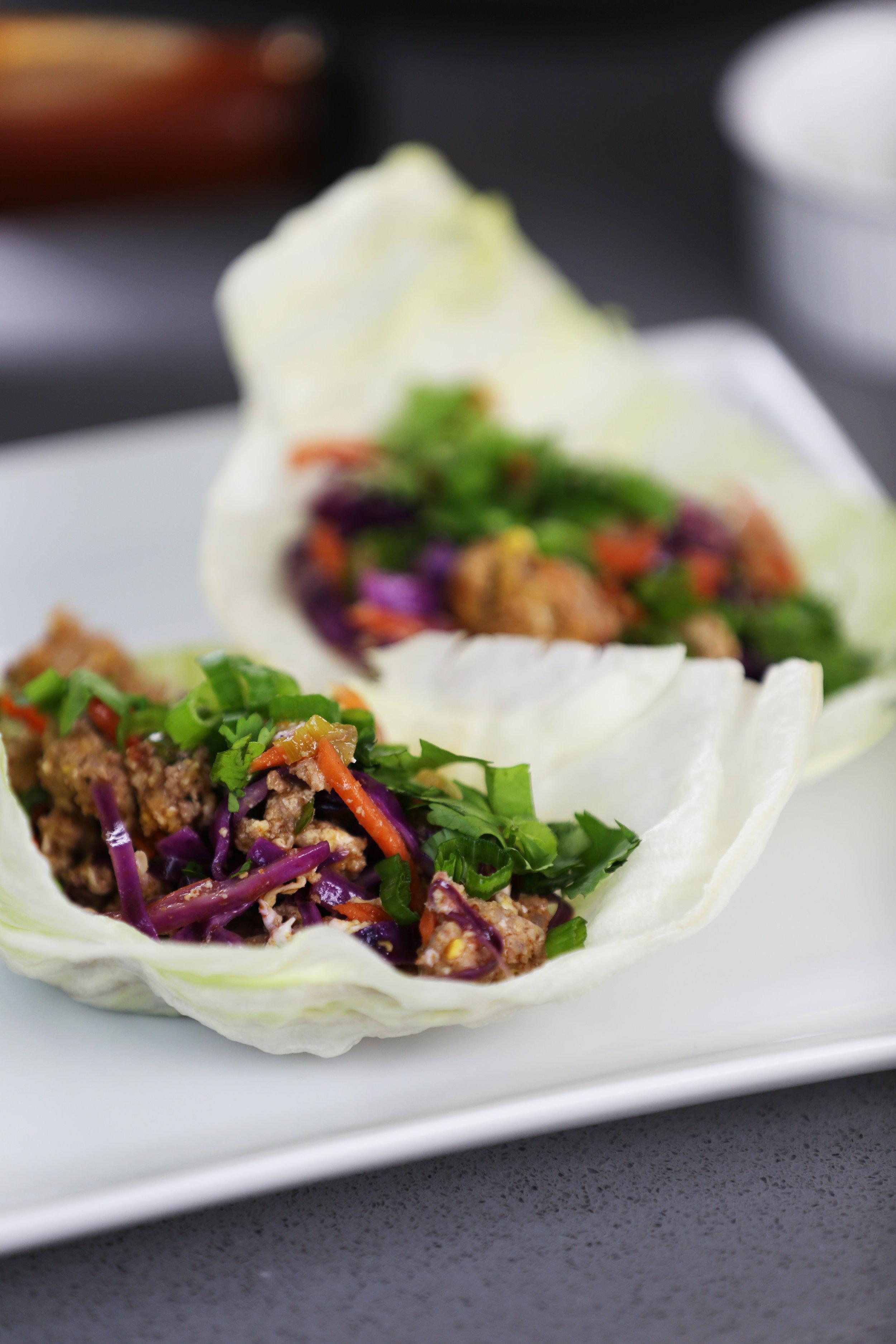 Sweet & Sour Lettuce Wraps
