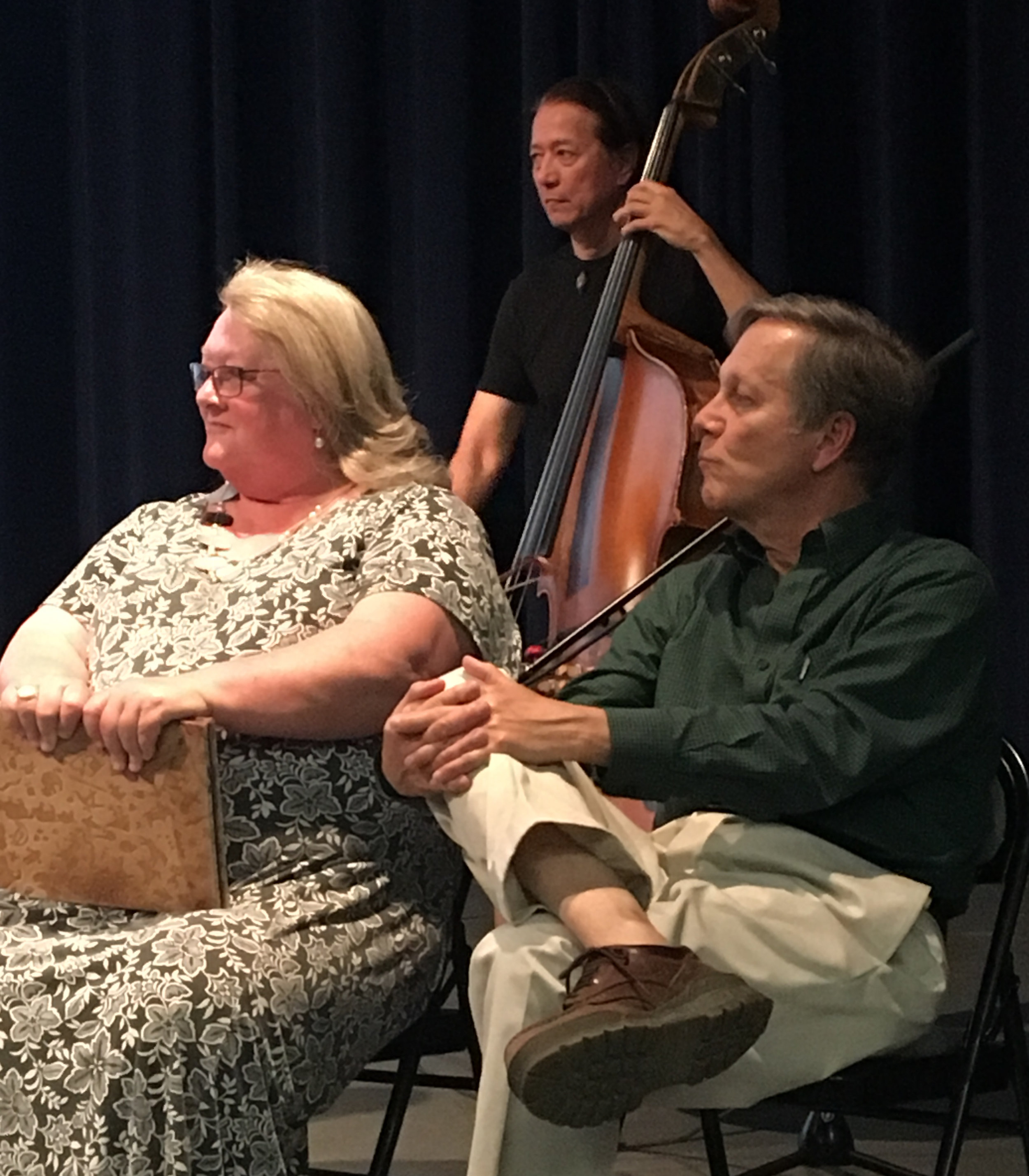 Molly Fisk with California Poet Laureate Dana Gioia at the 2017 Sierra Poetry Festival.