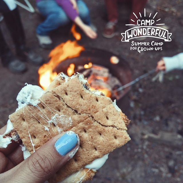 Your Camp dining experience doesn't stop at breakfast, lunch, and dinner. We also offer snack time, alcohol-free cocktails at Ma's Basement, and of course, s'mores around the campfire! . . . #summercampforadults #campforadults #campforgrownups #summercampforgrownups #lessscreentimemoregreentime #campwonderful #campwonderful2019 #relax #peace #positivity #detox #wander #sober #mindful #bepresent #recharge #logoff #circuseverywhere #selfcareishealthcare #groundyourself #calmyourmind