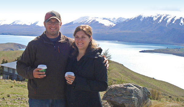 Melissa et son mari.